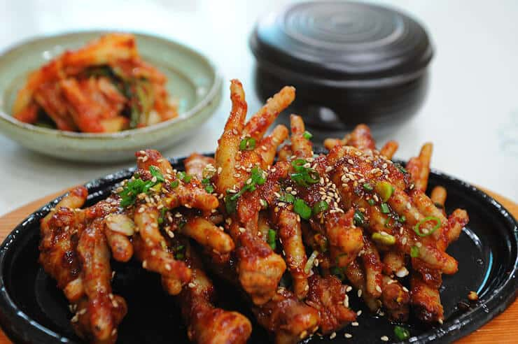 Cooked chicken feet