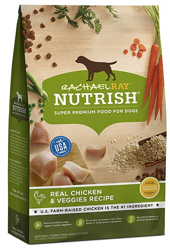 Rachael Ray Nutrish Real Chicken & Veggies Recipe Premium Food for Dogs