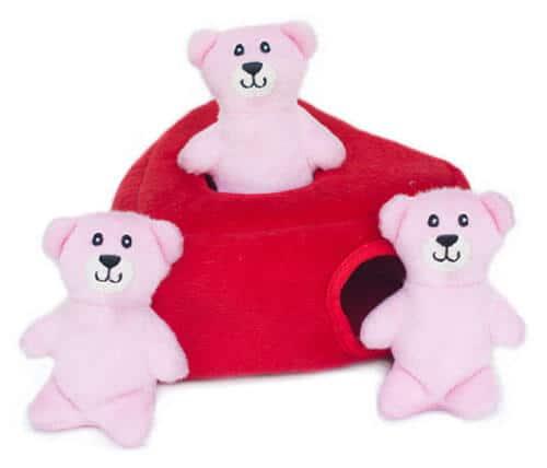 ZippyPaws Valentine's Burrow - Heart 'n Bears