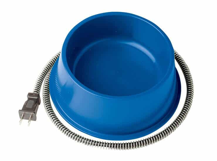 Heated dog's water bowl
