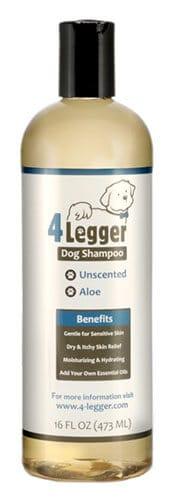 4Legger Unscented Hypoallergenic Dog Shampoo With Aloe