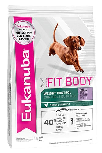 Eukanuba Body Fit Weight Control Small Breed Dry Dog Food