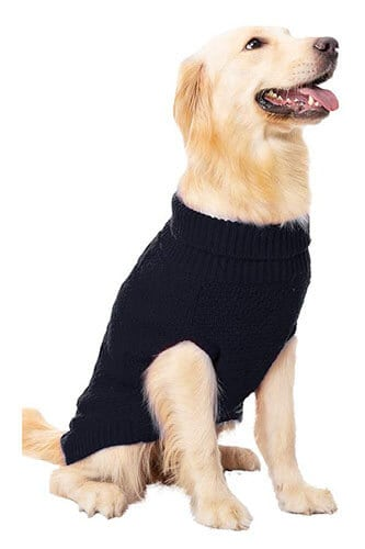 Mihachi Dog Cable Knit Sweater