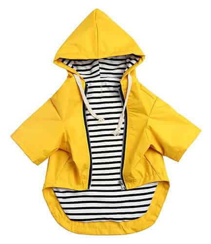 Morezi Zip Up Dog Raincoat With Hood